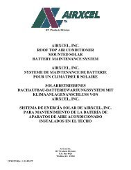airxcel, inc. roof top air conditioner mounted solar ... - RV Comfort