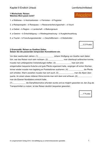 Arbeitsblatt Zu Aspekte 1 Kapitel 7 : Arbeitsblatt zu aspekte kapitel modul klett