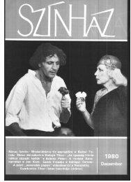 Az 1980-as év (XIII. évfolyam) tartalomjegyzéke - Színház.net