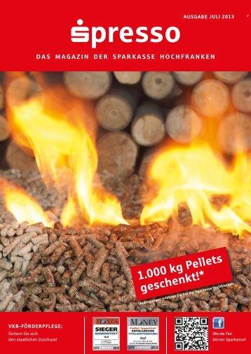 1.000 kg Pellets geschenkt!* - Sparkasse Hochfranken