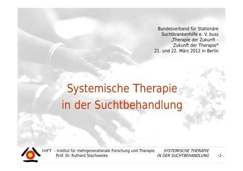 Systemische Therapie in der Suchtbehandlung - Ruthard Stachowske