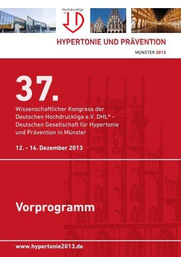 Vorprogramm als PDF speichern - Hypertonie 2013