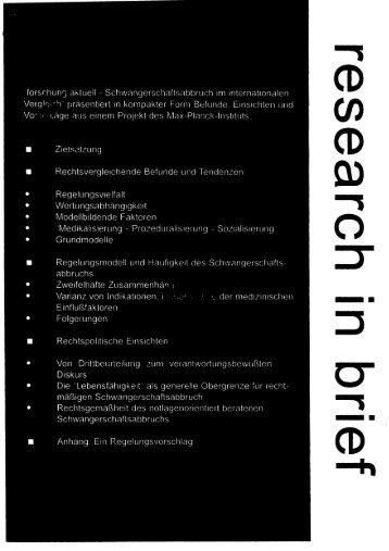 forschun ri aktuell - Schwangerschaftsabbruch im ... - FreiDok