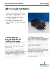 USB Fieldbus Schnittstelle - Emerson Process Management