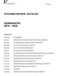 Systematik Germanistik - Universität Vechta