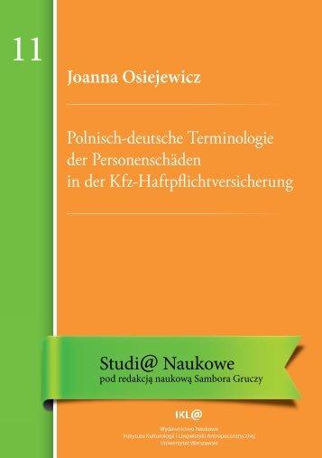 Studi@ Naukowe 11 - Uniwersytet Warszawski