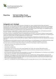 Jahresbericht - LLB Quotes - Liechtensteinische Landesbank