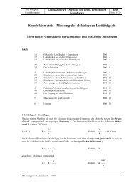 Konduktometrie - Messung der elektrischen ... - AK Kappenberg