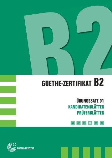 Prüfungstraining Goethe Zertifikat B2 Pdf Verlag