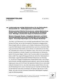 Pressemitteilung (PDF) - Ministerium für Ländlichen Raum und ...