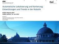 Automatische Lokalisierung und Kartierung: Entwicklungen und ...