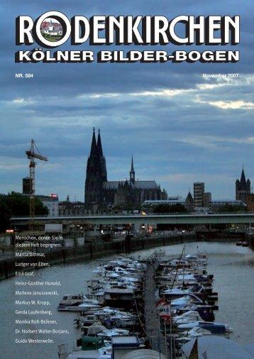 KBB Umschlag 0706 - RODENKIRCHEN Kölner Bilderbogen