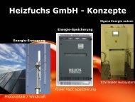 Präsentation Webseite - Der Heizfuchs GmbH