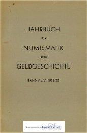 1954-1955 Band V-VI - Bayerische Numismatische Gesellschaft