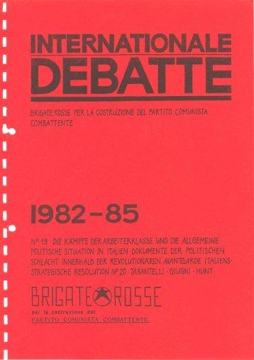 Dokumentensammlung 1982-1985 - Social History Portal