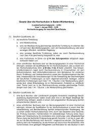 Gesetz über die Hochschulen in Baden-Württemberg