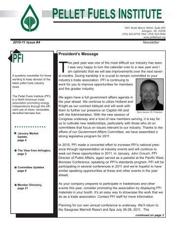 Issue #4 - Pellet Fuels Institute