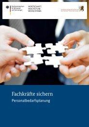 Fachkräfte sichern - Personalbedarfsplanung - Kompetenzzentrum ...
