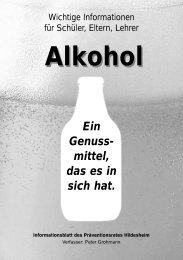Flyer Alkohol A5.qxd - Präventionsrat Hildesheim