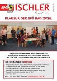 KLAUSUR DER SPÖ BAD ISCHL