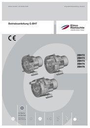 Betriebsanleitung G-BH7 2BH72 2BH73 2BH74 ... - Elmo Rietschle