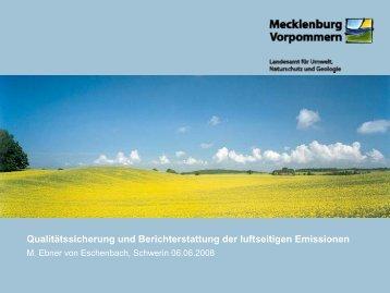 Qualitätssicherung und Berichterstattung der luftseitigen Emissionen ...