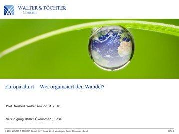 Europa altert - Vereinigung Basler Ökonomen