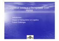 Logistical Issues in a Deregulated Grain Market