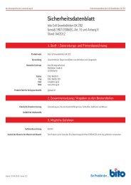 Sicherheitsdatenblatt GK 202 - Bito AG