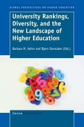 University Rankings, Diversity, and the New ... - Sense Publishers
