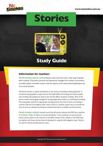 Stories Study Guide - No Smokes