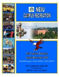 2012 fall brochure - final copy - Campus Recreation - Northeastern ...