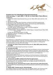 Protokoll der 36. Ordentlichen Generalversammlung Ostersamstag ...