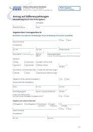 CVCI Antrag auf Differenzzahlungen durch den Arbeitgeber