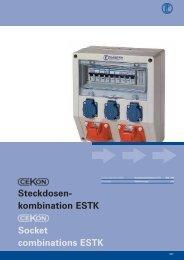 Steckdosen- kombination ESTK Socket combinations ESTK - ELTRON