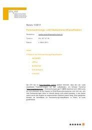 Newsletter 1/2011 - Schweizer Tourismus-Verband