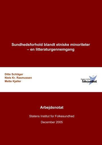 Sammenfatning og indhold - Statens Institut for Folkesundhed