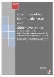 Zusammenarbeit Kommunale Kasse und Gerichtsvollzieher