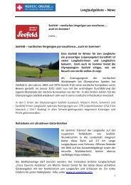 Langlaufgebiete – News - Nordic Online