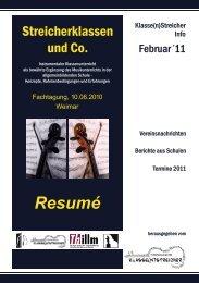 Klasse(n)Streicher Info Februar 2011 - Streicherklassen.de