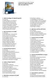 GIMP 2.8 für digitale Fotografie 1 GIMP-Grundlagen für ...