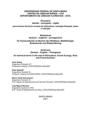 CCR DEPARTAMENTO DE CIÊ NCIAS FLORESTAIS ... - UFSM