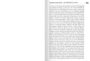 RAINER MARIA RILKE ' UR-GERÄUSCH (1919) Zur Zeit, als ich die ...