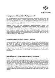 Imprägniertes Altholz wird im April gesammelt Sonderaktion an fünf ...