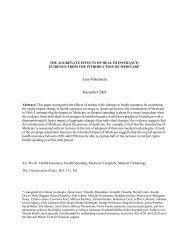 Amy Finkelstein December 2005 - National Bureau of Economic ...
