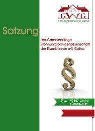 Satzung - Gemeinnützige Wohnungsbaugenossenschaft der ...