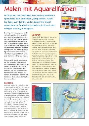 Malen mit Aquarellfarben - Freude am Malen