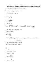 Aufgaben zur Produktregel, Quotientenregel und ... - Mathe-total.de