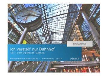 Teil 1 - World Usability Day Berlin 2013