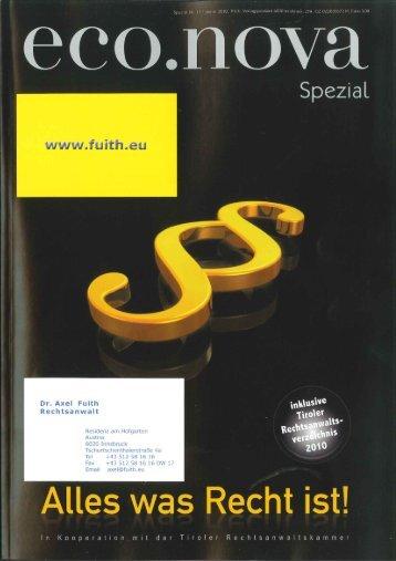 ganzer Bericht (PDF 986kb) - Rechtsanwalt Dr. Axel Fuith